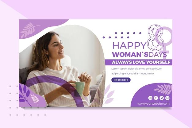 Banner do dia internacional da mulher