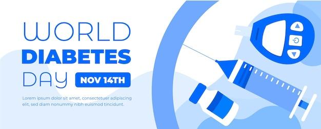 Banner do dia mundial da diabetes em 14 de novembro