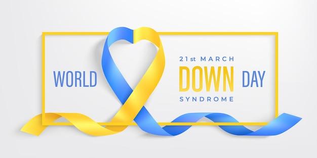 Banner do dia mundial da síndrome de down 21 de março Vetor Premium