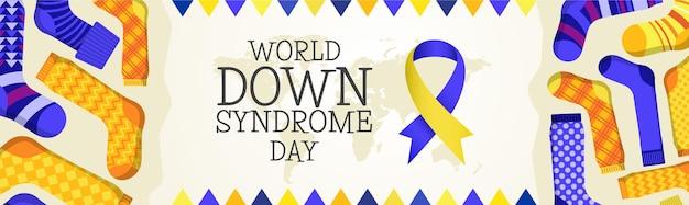 Banner do dia mundial da síndrome de down