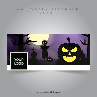 Banner do facebook com design de halloween