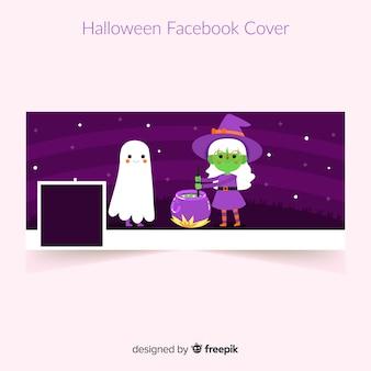 Banner do facebook com elementos de halloween