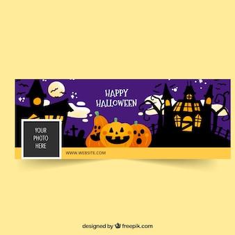 Banner do facebook com o conceito de halloween