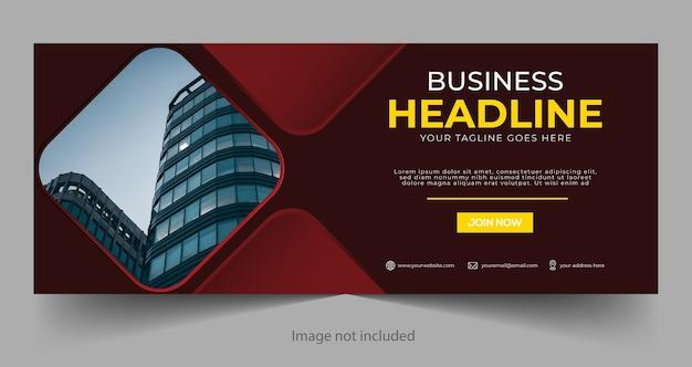 Banner do facebook de negócios corporativos