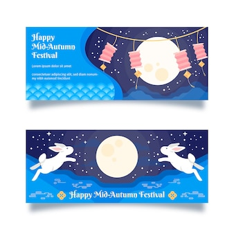 Banner do festival de outono com design plano