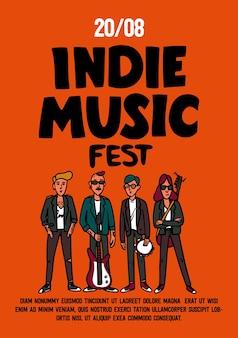 Banner do festival de verão de música indie