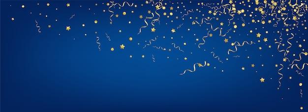 Banner do golden serpentine swirl confetti
