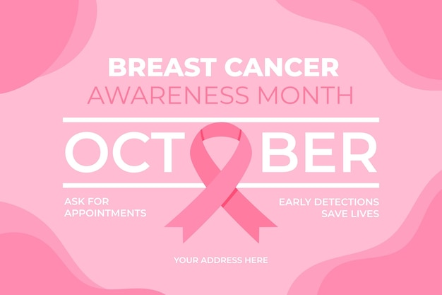 Banner do mês de conscientização do câncer de mama