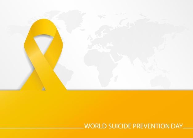 Banner do modelo do dia mundial da prevenção do suicídio