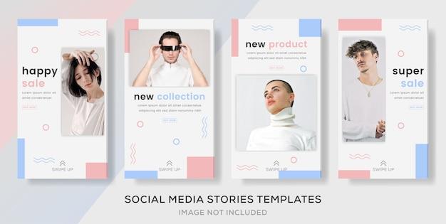 Banner do pacote de histórias para venda de moda