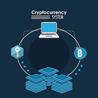 Banner do sistema de criptomoeda