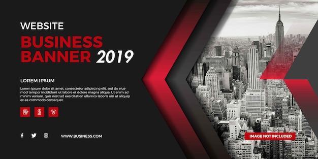 Banner do site abstrato negócios corporativos com sombra