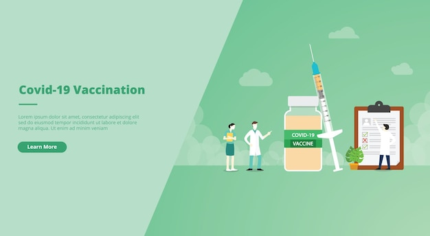 Banner do site da vacina contra o coronavírus covid
