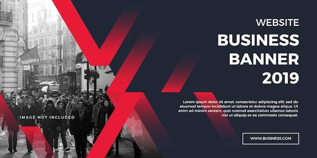 Banner do site de negócios corporativos