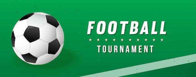 Banner do torneio de futebol