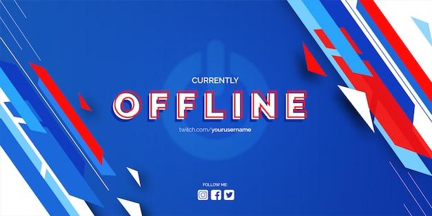 Banner do twitch offline