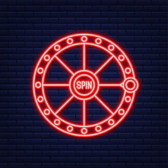 Banner do vencedor. máquina caça-níqueis com jackpot setes da sorte. estilo neon. ilustração vetorial.