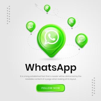 Banner do whatsapp com ícones de mídia social