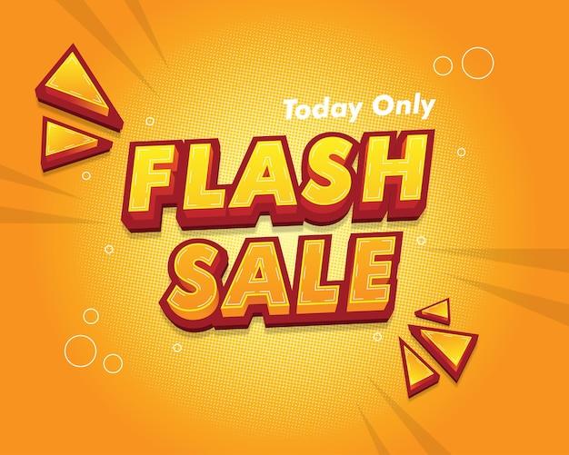 Banner e pôster de venda flash. estilo de fonte editável.