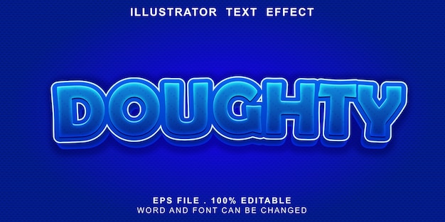 Banner editável de efeito de texto de logotipo de massa