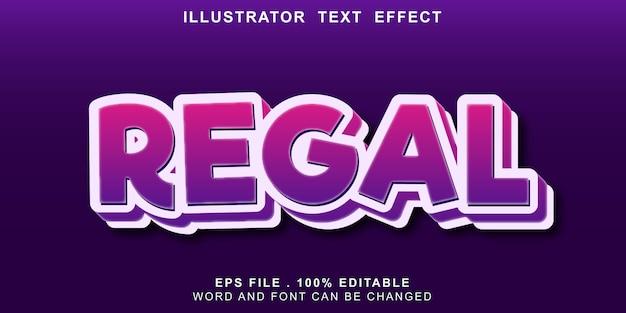 Banner editável de efeito de texto de logotipo real