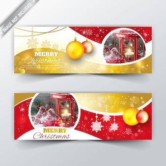 Banner elegante de natal