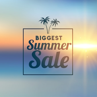 Banner elegante de venda verão incrível