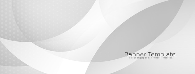 Banner elegante em estilo de onda elegante em cinza
