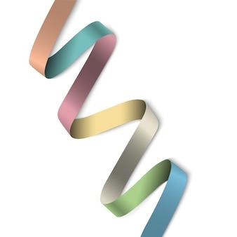 Banner elegante fita colorida para design