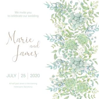 Banner em aquarela de casamento