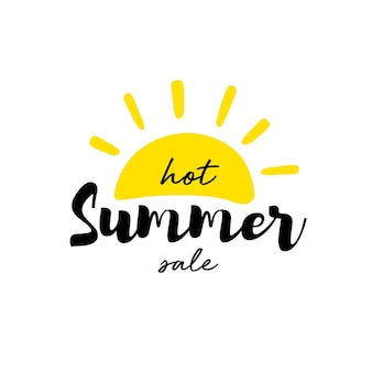 Banner em liquidação de verão quente