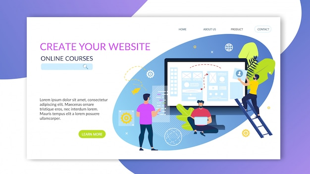Banner escrito great your online cursos on-line.