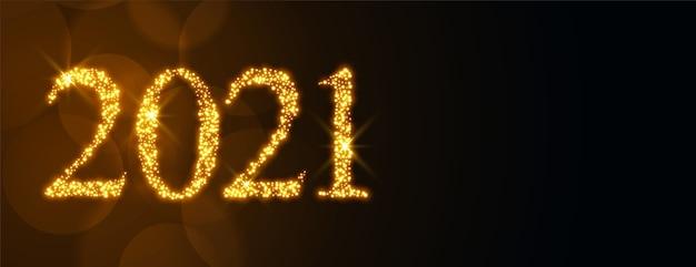 Banner espumante de celebração de feliz ano novo