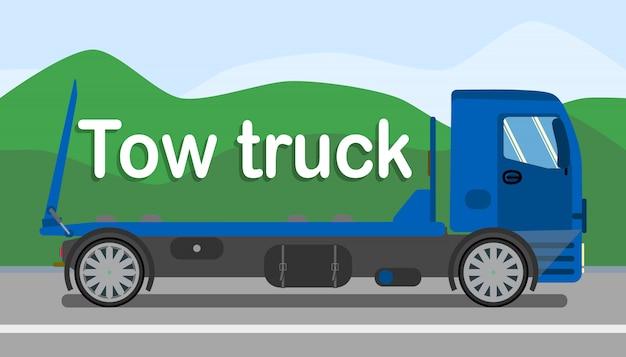 Banner estilizado de serviços de caminhão de reboque