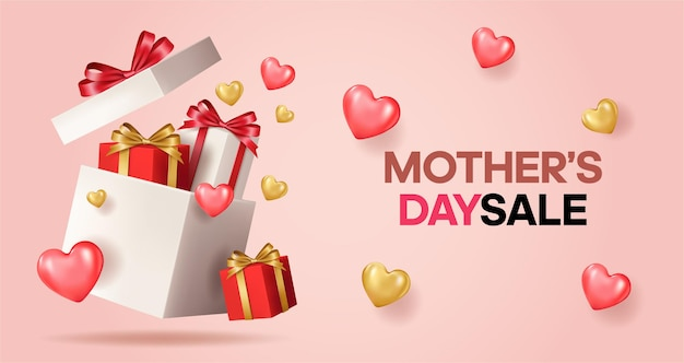 Banner feliz dia das mães. '