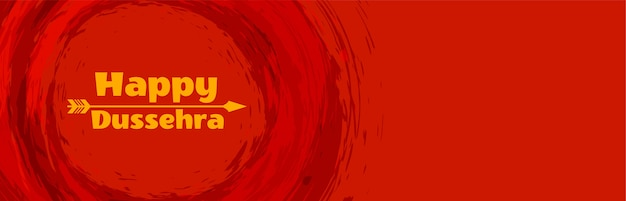 Banner feliz festival hindu de dussehra com seta