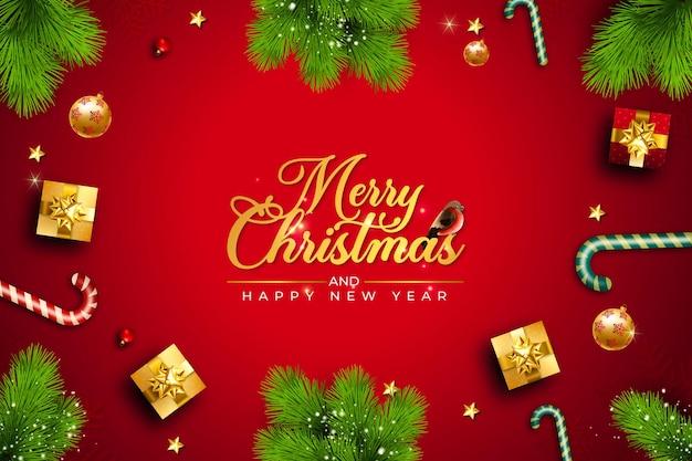 Banner feliz natal e feliz ano novo