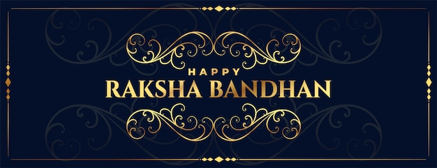 Banner festival decorativo dourado raksha bandhan