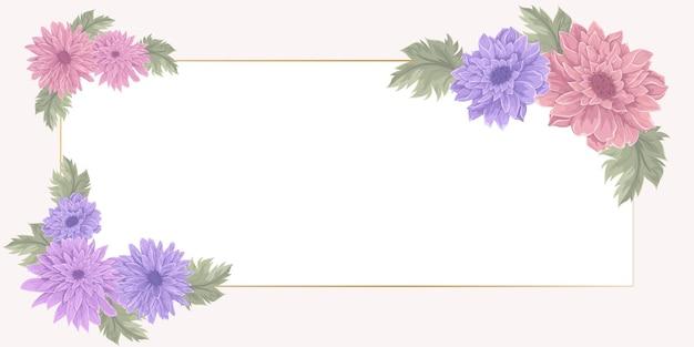 Banner floral elegante