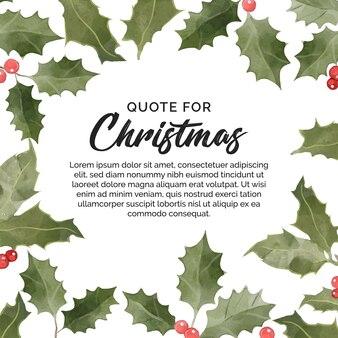 Banner floral para citação de natal