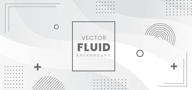 Banner fluido abstrato moderno
