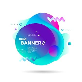 Banner fluido com formas futurísticas de gradientes