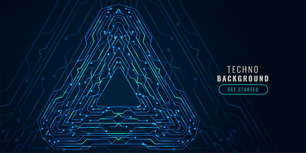 Banner futurista de diagrama de tecnologia digital
