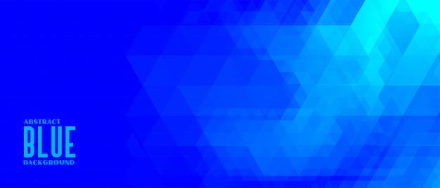 Banner geométrico abstrato triângulo azul