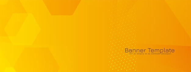 Banner geométrico de formas hexagonais amarelas