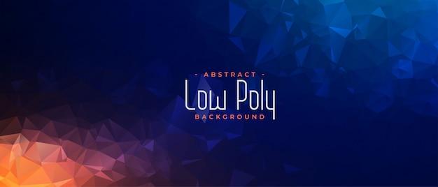 Banner geométrico poligonal abstrato em dois tons