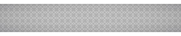 Banner horizontal abstrato de pequenos quadrados entrelaçados em fundo cinza