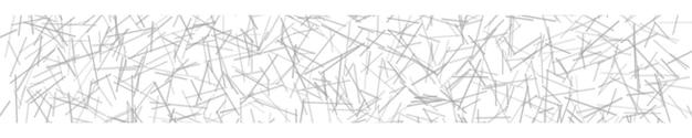 Banner horizontal abstrato ou plano de fundo de linhas que se cruzam em cores brancas.