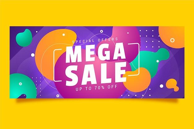 Banner horizontal colorido para venda