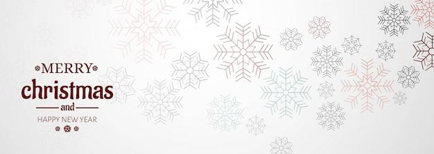 Banner horizontal com cartão de natal